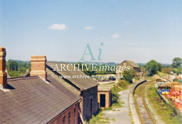 Llanybyther Railway Station 1974