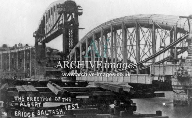 Royal Albert Bridge Construction Saltash Royal Albert Bridge