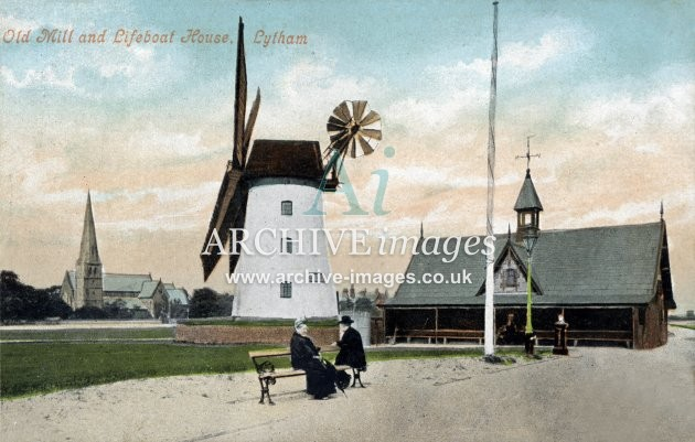 Lytham windmill & lifeboat house colour