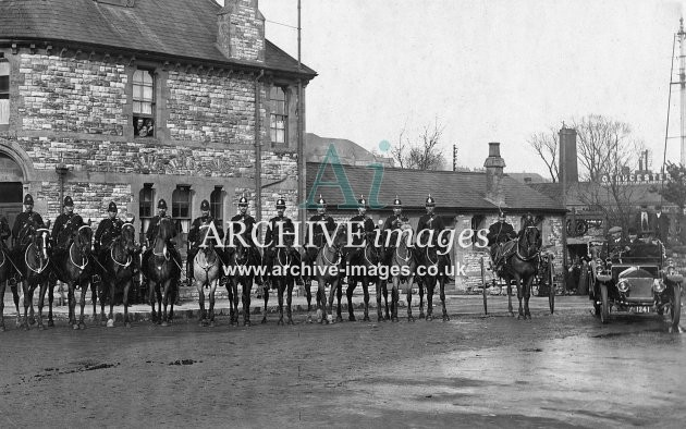 Ludlows Colliery, Radstock, Mounted Police 1921 Strike