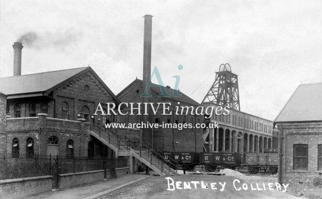 Bentley Colliery, N, PO wagons JR