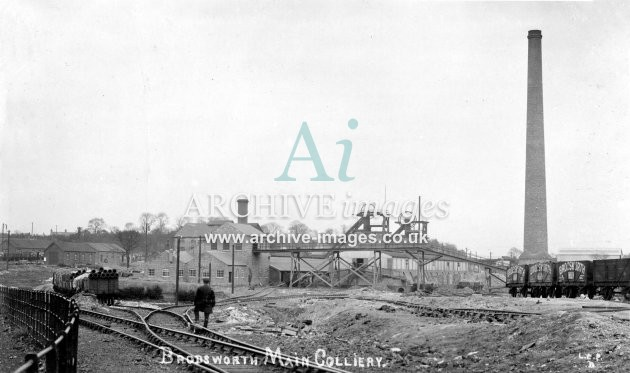 Brodsworth Main Colliery, Doncaster, PO wagons, E JR