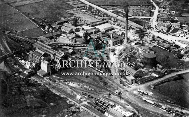 Bullcroft Main Colliery, aerial vw, D JR