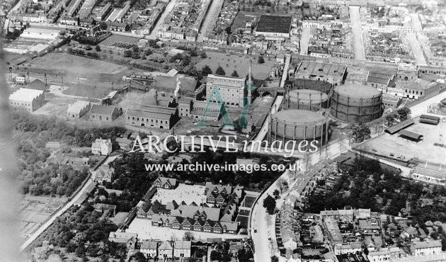 Cheltenham Gasworks, Aerial c1930