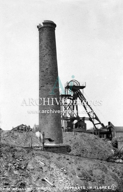 Mells Colliery, Throwing Chimney A c1920