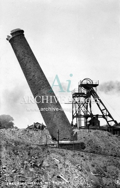 Mells Colliery, Throwing Chimney B c1920