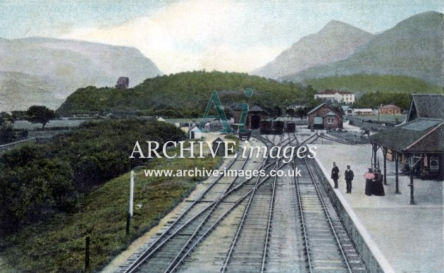 Llanberis Railway Station, colour