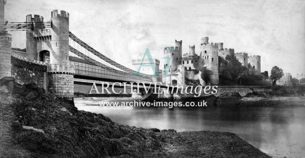 Conway Castle & Bridges c1862