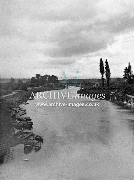 Hereford, River Wye & Railway Bridge c1860