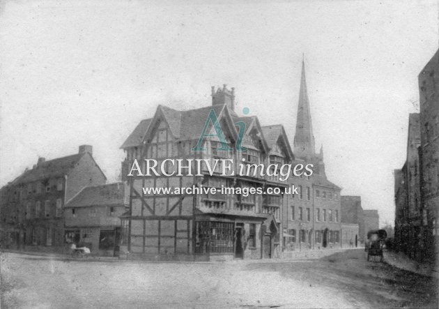 Hereford, Saddlers House, High Town c1860