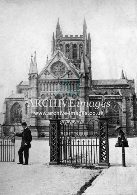 Hereford Cathedral c1860