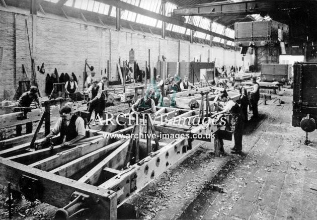 Gloucester RC&W Co Ltd 1924, Wagon Building Shops, Underframes