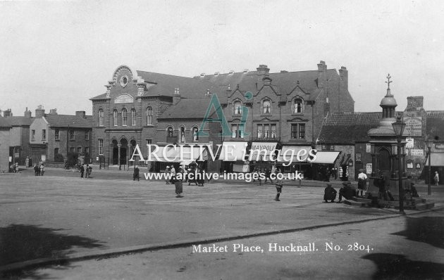 markety place hucknall archive images