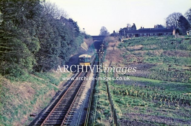 DMU in Hillworth Cutting, Devizes 1966
