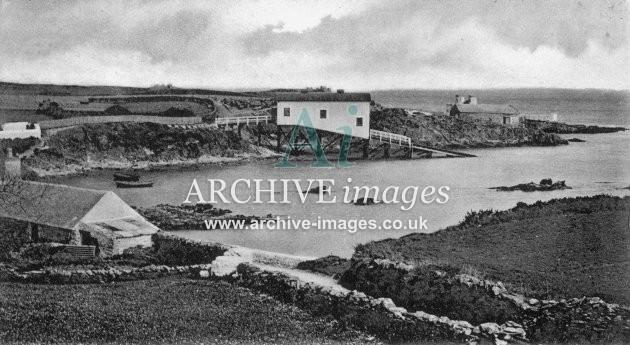 Amlwch, Bull Bay lifeboat house c1905