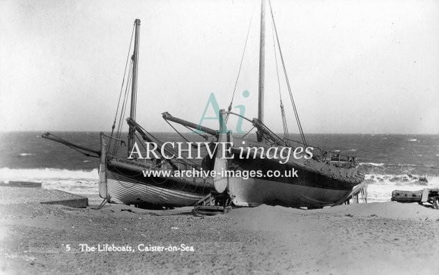 Caister No 1 & No 2 lifeboats c1930