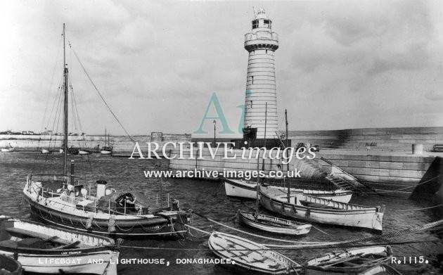 Donaghadee lifeboat & lighthouse c1950