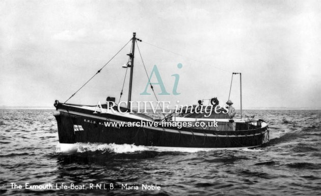 Exmouth lifeboat Maria Noble c1935