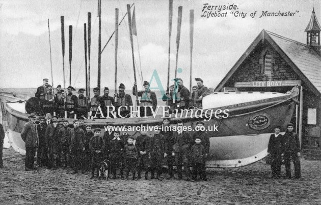 Ferryside lifeboat City of Manchester c1908