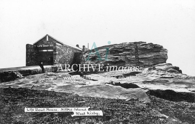 Hilbre Island, West Kirby, lifeboat house c1908