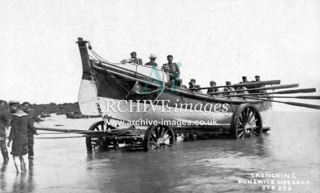 Runswick Bay lifeboat, launch c1908