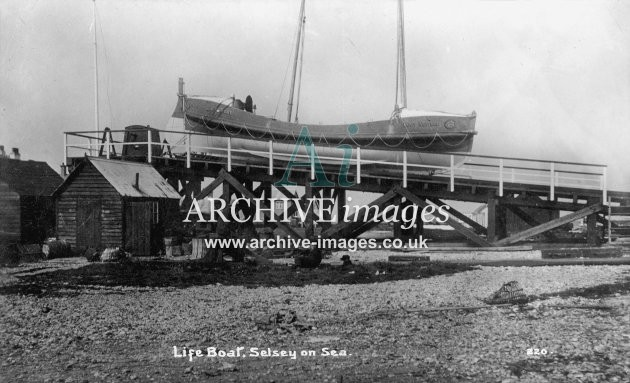 Selsey on Sea lifeboat Lucy Newton c1910
