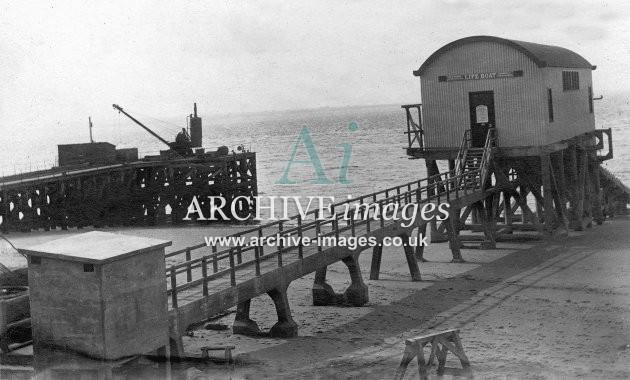 Spurn Head lifeboat house c1925