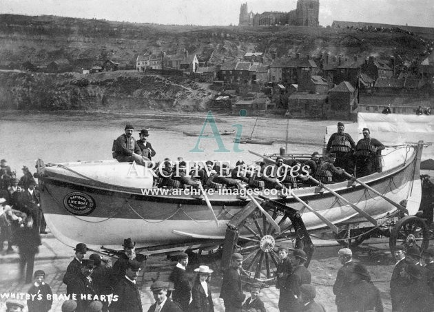 Whitby lifeboat & crew c1910