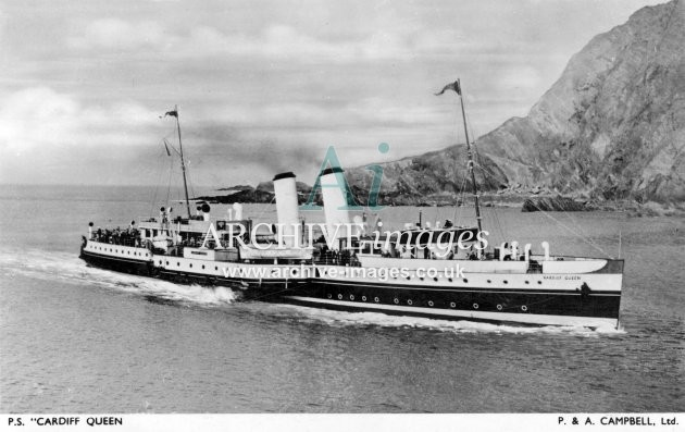 PS Cardiff Queen P&A Campbell c1950 A