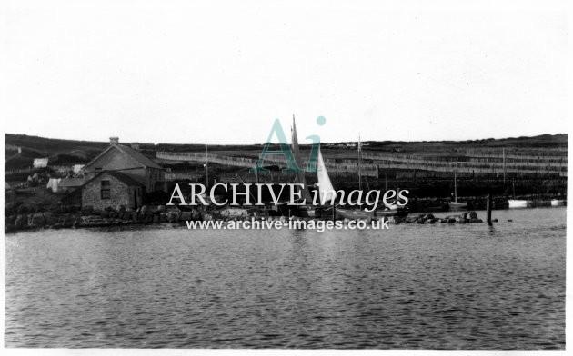 Scilly isles Tresco Pier 1912 CMc