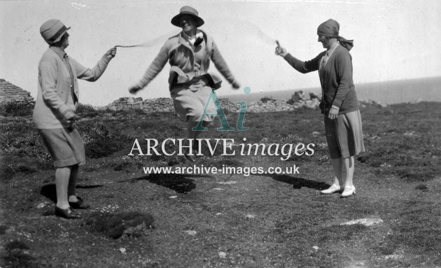 Scilly Isles skipping in the 1930s CMc