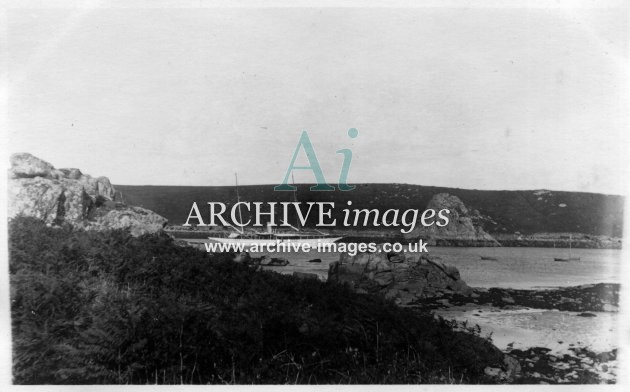 Scilly isles Tresco 1912 Mr Miller Mundys steam yacht Narcissus CMc
