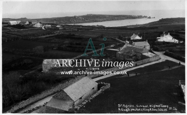 Scilly Isles St Agnes School Higher Town and Gugh c.1935 CMc