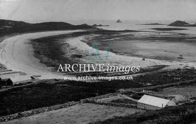 Scilly isles St martins bay c.1911 CMc