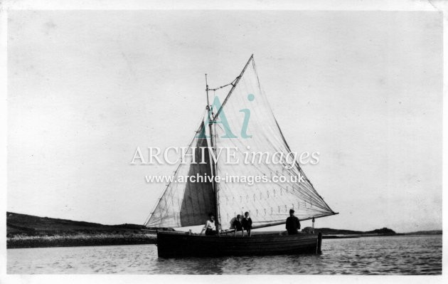 Scilly Isles Guys Boat Two Brothers with N and Guys 1912 CMc