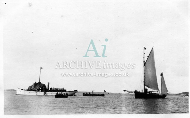 Scilly Isles Gugh with Govenors yawl 1912 CMc