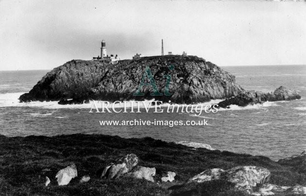 Scilly Isles Round Island Lighthouse c.1912 CMc