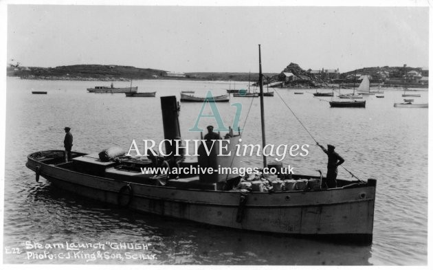 Scilly Isles Steam Launch G Hugh c.1930 CMc