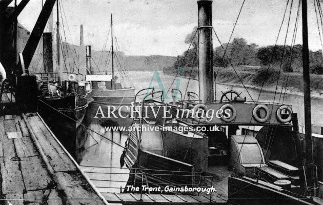 LIncolnshire tugs gainsborough wharf c1910 CMc