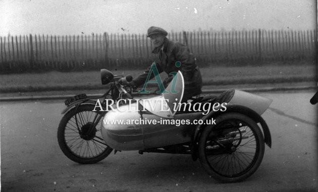 Motorbike and sidecar c1910 CMc