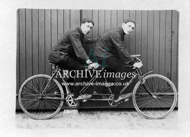 Tandem bicycle c1910 CMc