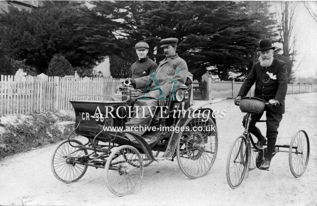 Hampshire Motoring Southampton cr96 vintage car and tricycle c1905 CMc