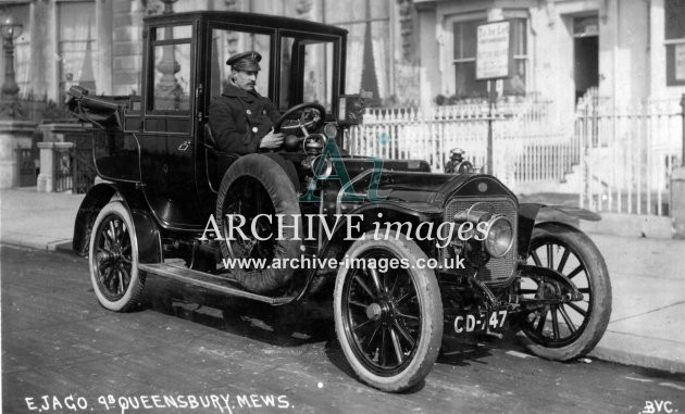 Sussex Brighton c1910 E Jago Taxi at 9b Queensbury Mews CMc