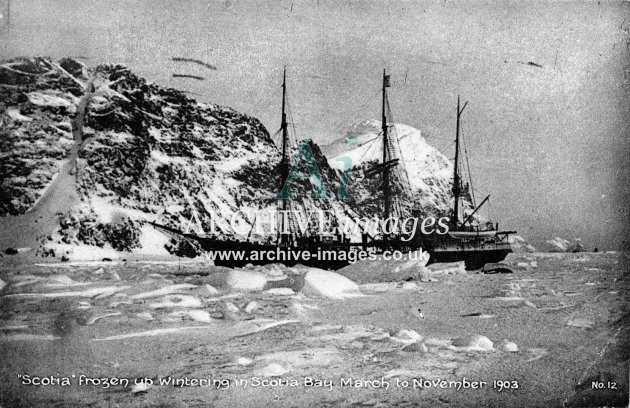 Exploration Bruce Scottish national Expedition Antarctica Scotia frozen in ice antarctic 1903 CMc