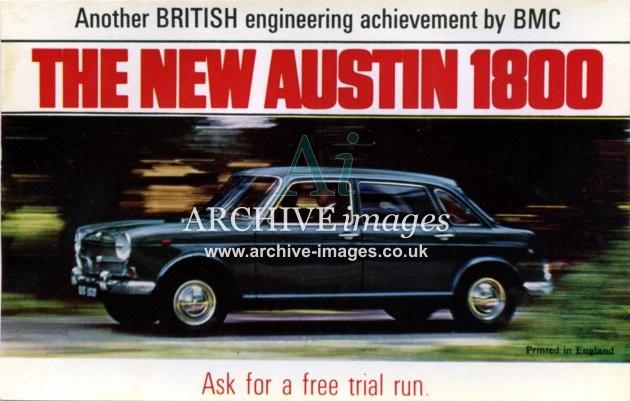 Motoring new Austin 1800 landcrab poster CMc