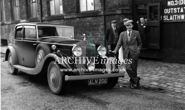 Motoring Yorkshire Rolls-Royce ALN 206 Slaithwaite 2 c1935 CMc
