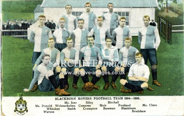 Football Lancashire Blackburn Rovers 1904-5 CMc