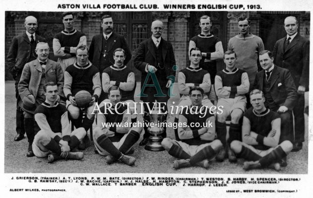 Football Birmingham Aston Villa Football Club 1913 by Albert Wilkes CMc
