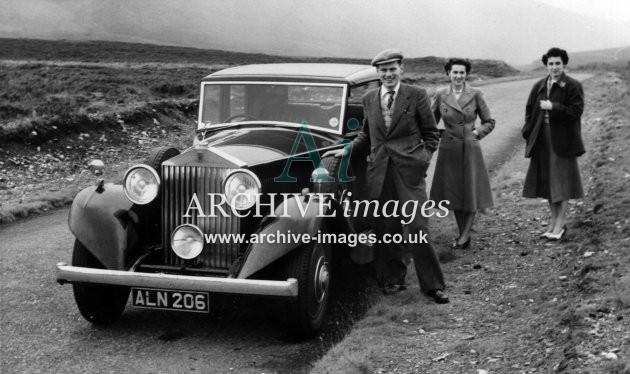 Motoring Yorkshire Rolls-Royce ALN 206 Slaithwaite 1 c1935 CMc