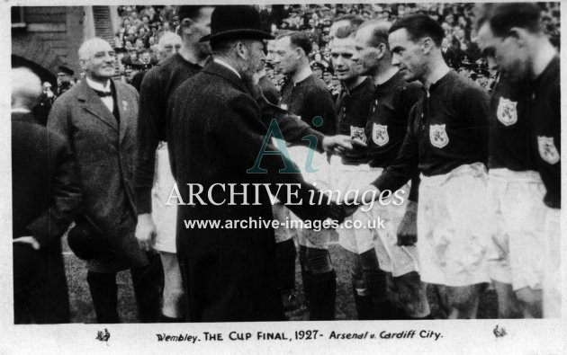 Football Wembley 1927 Arsenal v Cardiff City FA Cup Final CMc